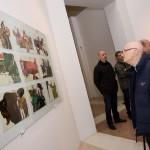 L'inaugurazione della mostra di Sergio Toppi